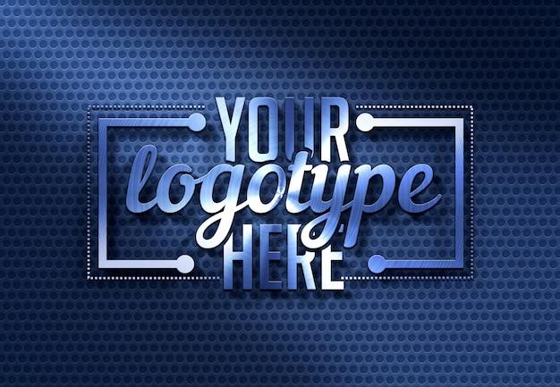 Plantilla de logotipo azul moderno
