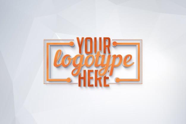 Plantilla de logotipo sobre fondo poligonal
