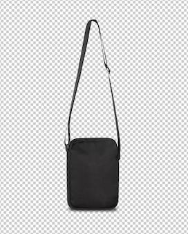 Plantilla de maqueta de bolsa de bolsillo negra para su diseño.