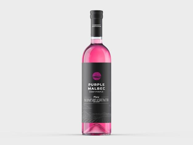 Plantilla de maqueta de botella de vino