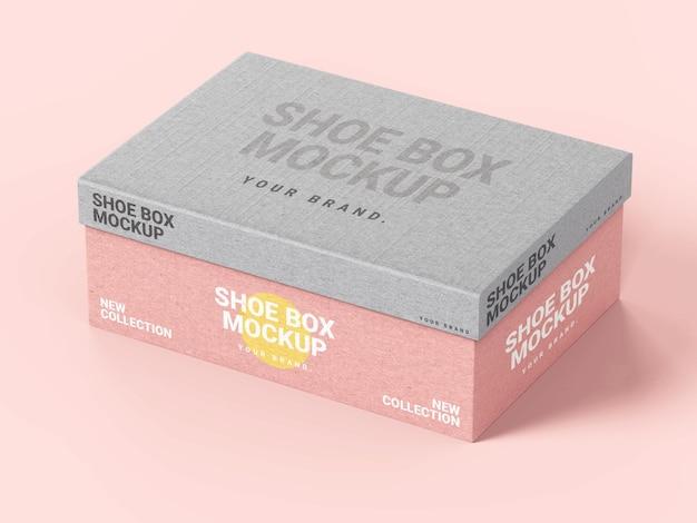 Plantilla de maqueta de caja de zapatos