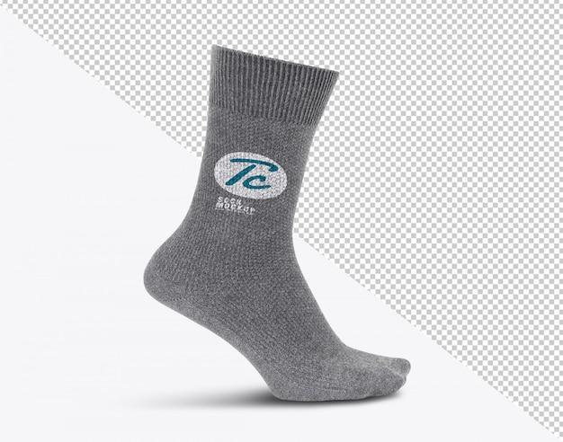Plantilla de maqueta de calcetines grises en blanco para su diseño