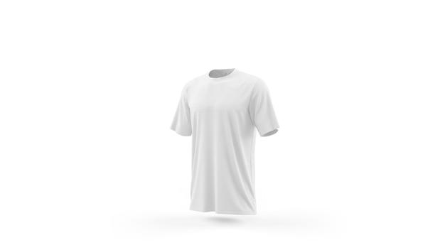 Plantilla de maqueta de camiseta blanca aislada, vista frontal