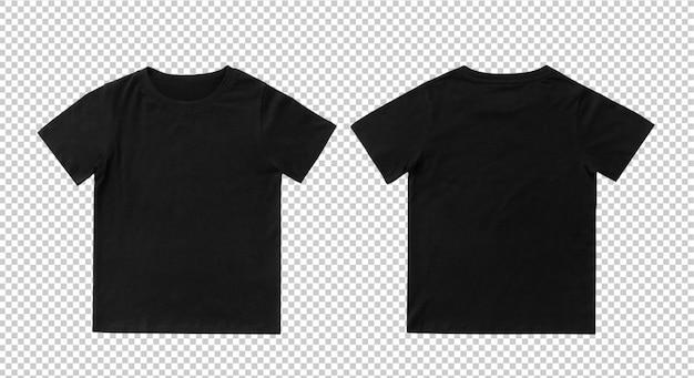 Plantilla de maqueta de camiseta negra en blanco para niños