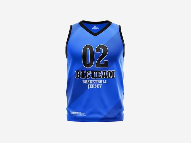 Plantilla de maqueta de camiseta de tanque de baloncesto