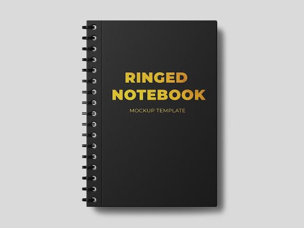 Plantilla de maqueta de cuaderno anillado
