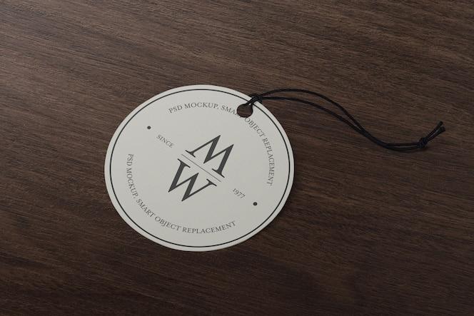 Plantilla de maqueta de etiqueta de etiqueta