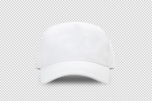 Plantilla de maqueta de gorra de béisbol blanca