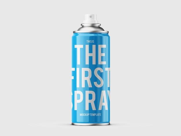Plantilla de maqueta de lata de aerosol de graffiti