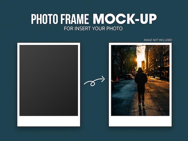 Plantilla de maqueta de marco de foto polaroid