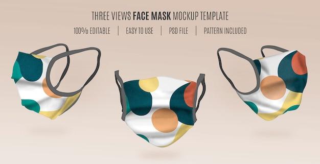 Plantilla de maqueta de máscara 3d