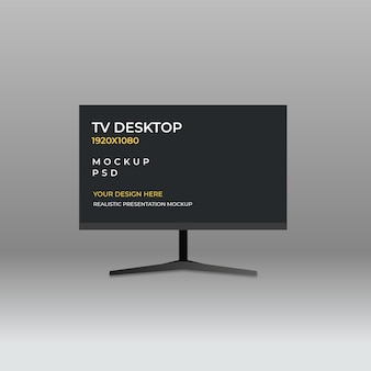 Plantilla de maqueta de monitor de tv dsktop