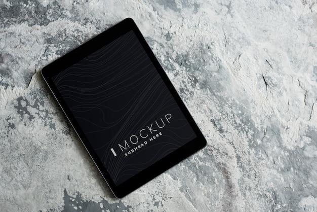 Plantilla de maqueta de pantalla de tableta inalámbrica