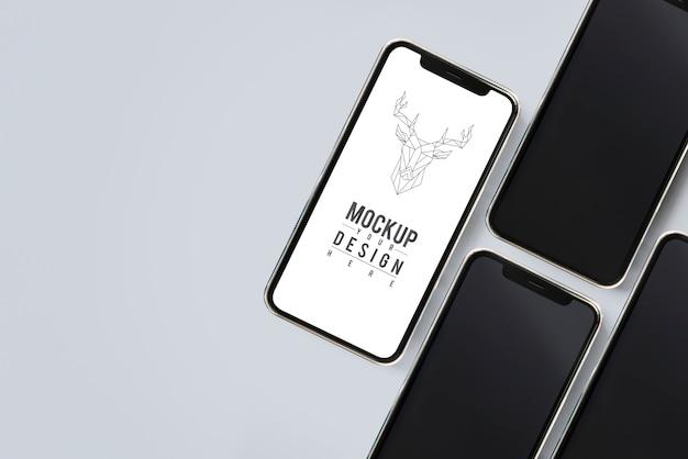 Plantilla de maqueta de pantalla de teléfono móvil premium
