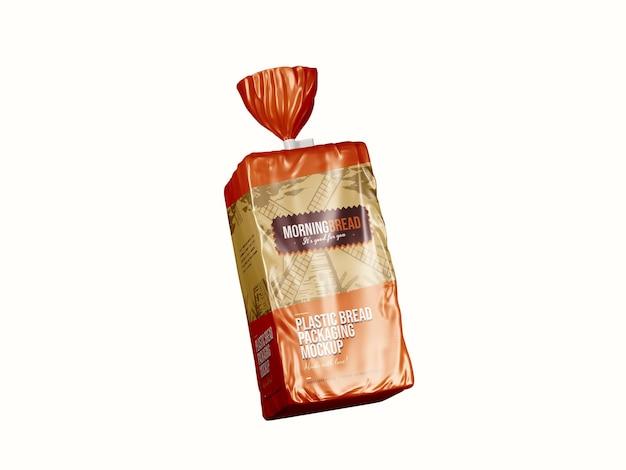 Plantilla de maqueta de paquete de bolsa de pan