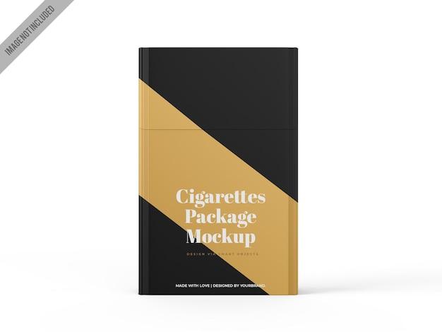 Plantilla de maqueta de paquete de cigarrillos
