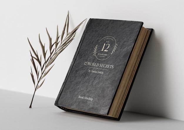 Plantilla de maqueta de portada de libro vintage