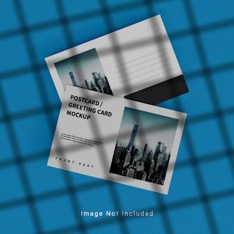 Plantilla de maqueta de postal y tarjeta de felicitación