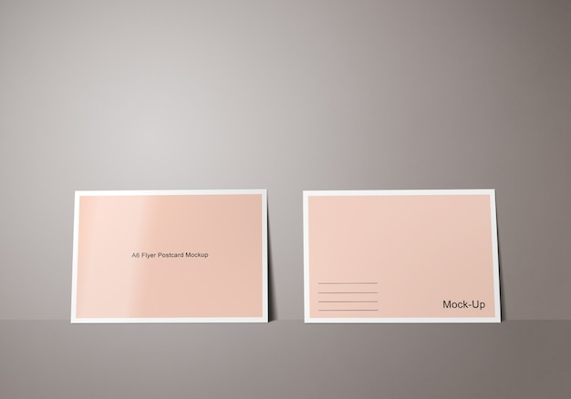 Plantilla de maqueta de postal