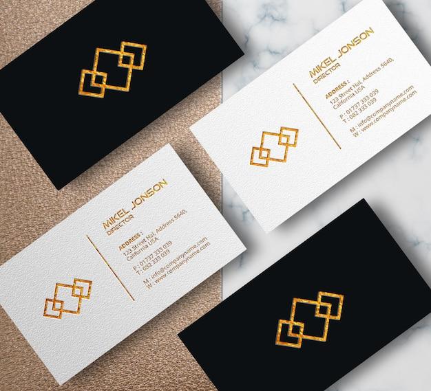 Plantilla de maqueta de tarjeta de visita de cuatro estilos