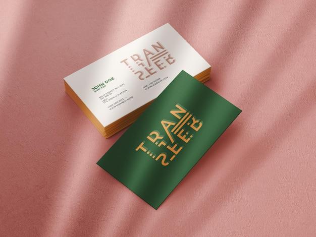 Plantilla de maqueta de tarjeta de visita mínima