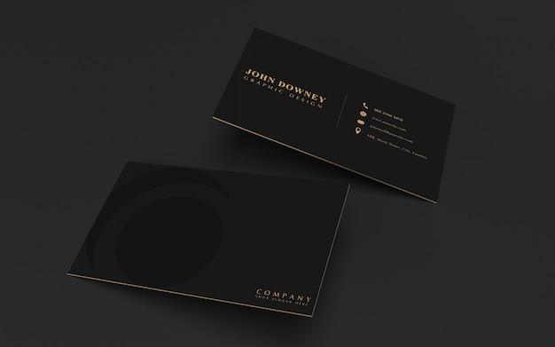 Plantilla de maqueta de tarjeta de visita moderna. diseño elegante