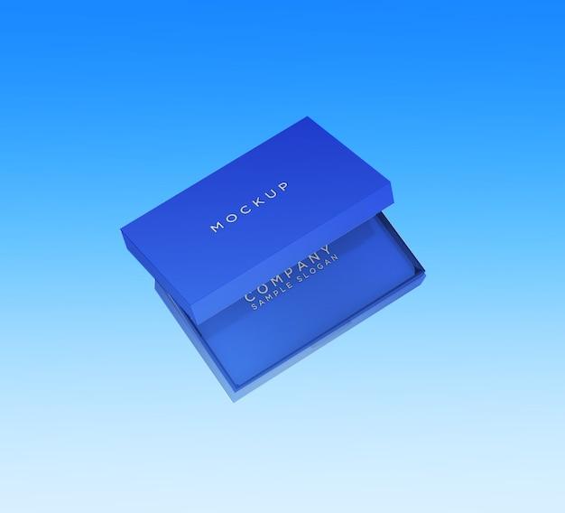 Plantilla de maqueta de tarjeta de visita o tarjeta de identificación editable con la caja
