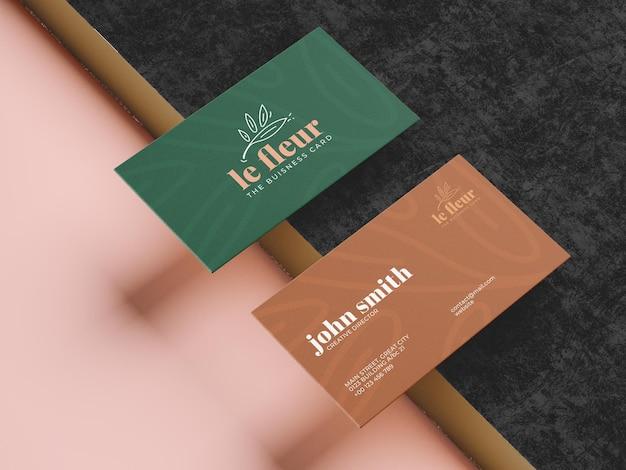 Plantilla de maqueta de tarjeta de visita