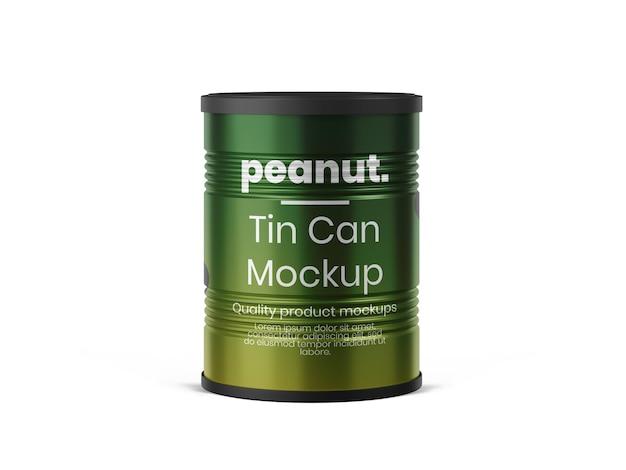 Plantilla de maqueta de tarro de lata
