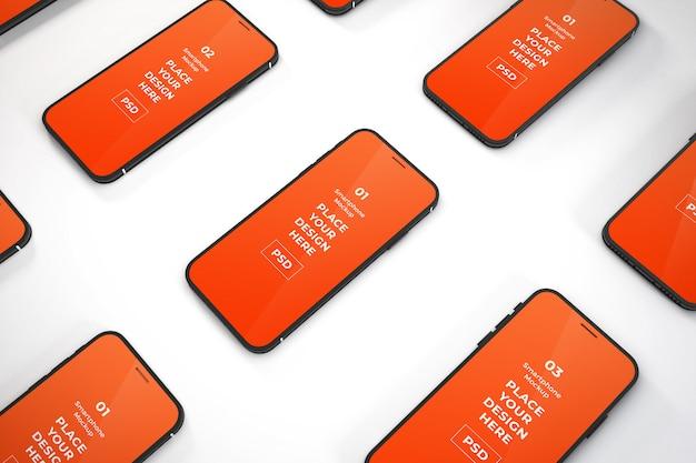 Plantilla de maqueta de teléfono inteligente realista