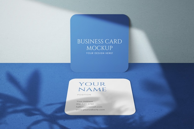 Plantilla de maquetas de tarjetas de visita de tamaño cuadrado hermoso y limpio simple