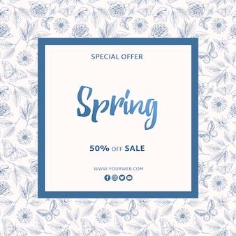 Plantilla de marco de oferta especial de primavera