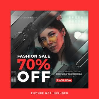 Plantilla de medios sociales de venta de moda