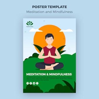 Plantilla de meditación y atención plena