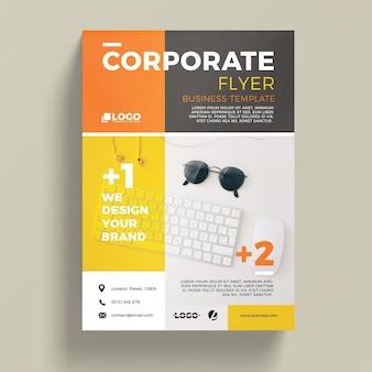 Plantilla moderna corporativa de flyer de negocios