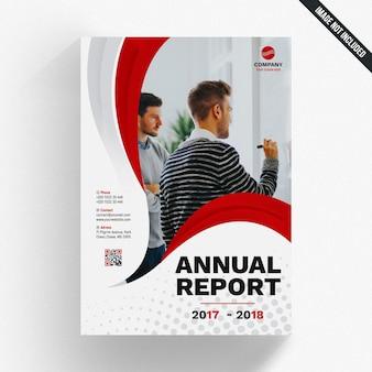 Plantilla moderna ondulada de reporte anual