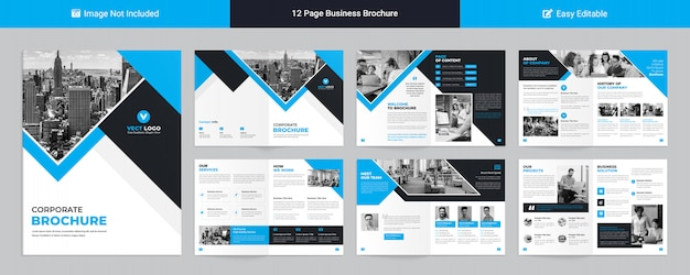 Plantilla moderna de perfil corporativo para presentación de negocios