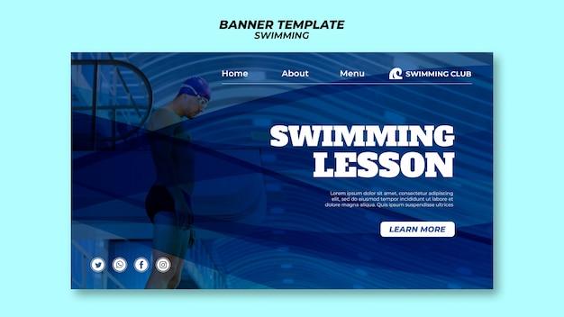 Plantilla de natación para tema de banner
