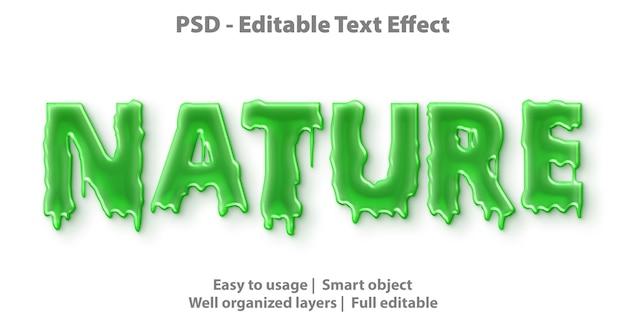 Plantilla de naturaleza de efecto de texto