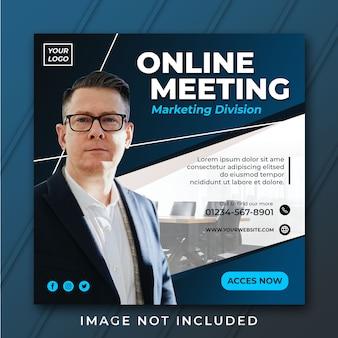 Plantilla de negocio cuadrado de publicación o folleto de instagram psd