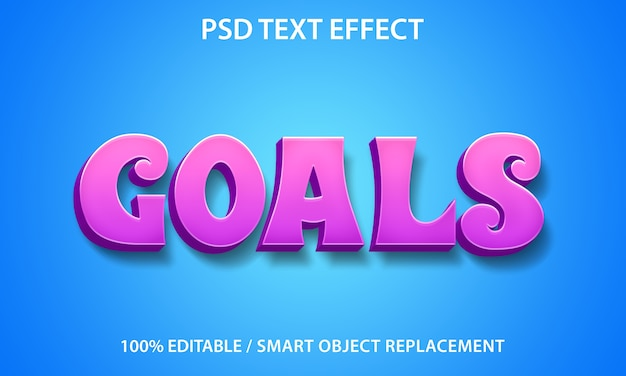 Plantilla de objetivos de efecto de texto editable