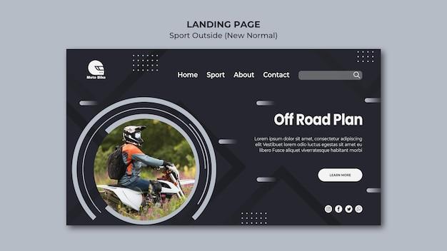 Plantilla de página de aterrizaje de concepto deportivo