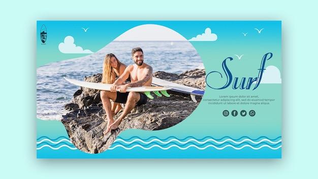 Plantilla de página de aterrizaje de concepto de surf