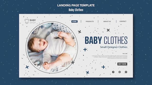 Plantilla de página de aterrizaje de ropa de bebé