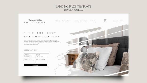 Plantilla de página de destino de alquiler de lujo