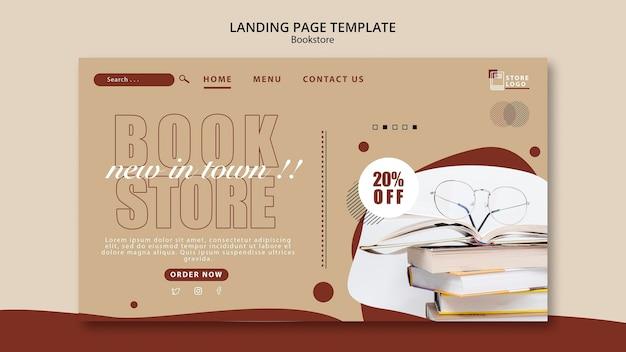 Plantilla de página de destino de anuncio de librería