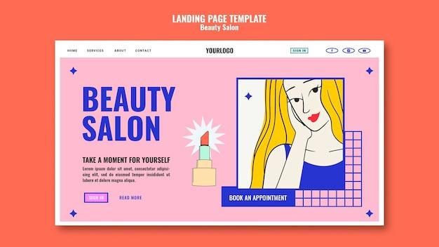 Plantilla de página de destino de arte pop de belleza