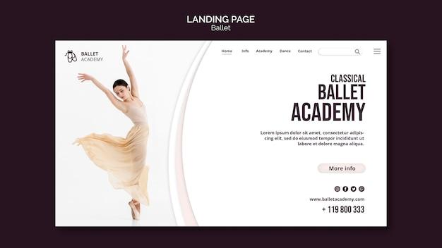Plantilla de página de destino de concepto de ballet