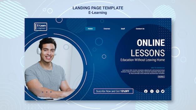Plantilla de página de destino del concepto de e-learning