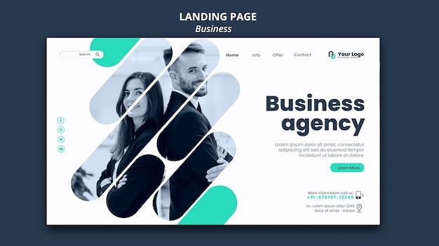 Plantilla de página de destino de concepto de negocio
